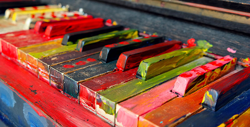 Piano couleurs